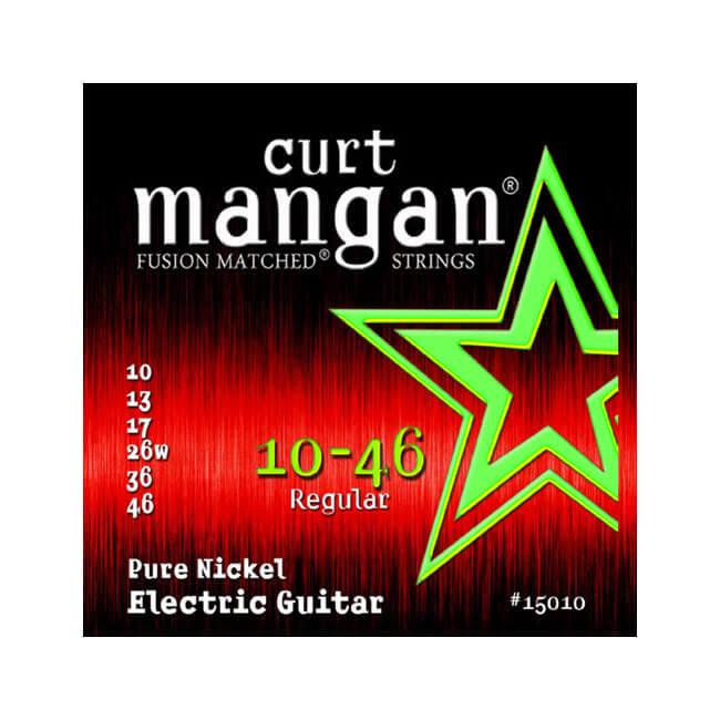 Image of   CurtMangan 15010PureNickel el-guitarstrenge010-046