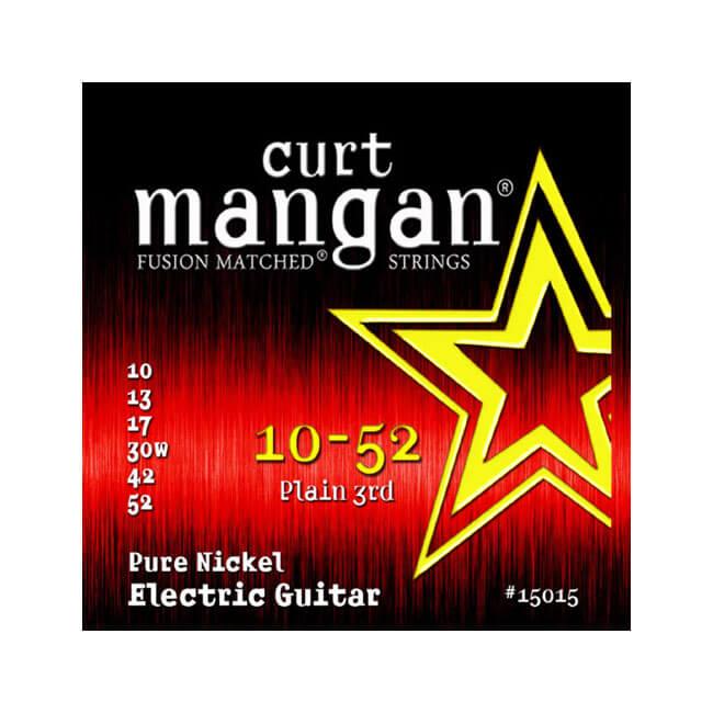 Image of   Curt Mangan 15015PureNickel el-guitarstrenge010-052