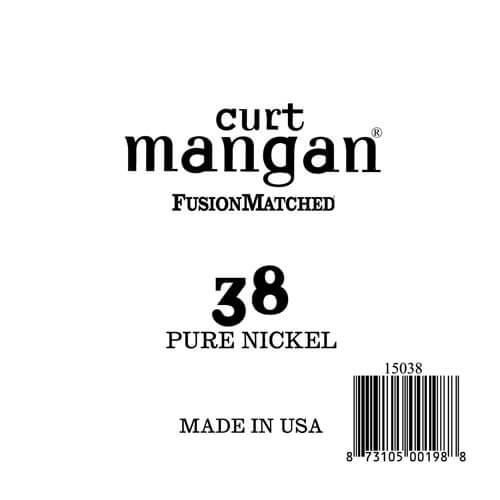 Image of   Curt Mangan 15038PureNickel løsel-guitarstreng.038