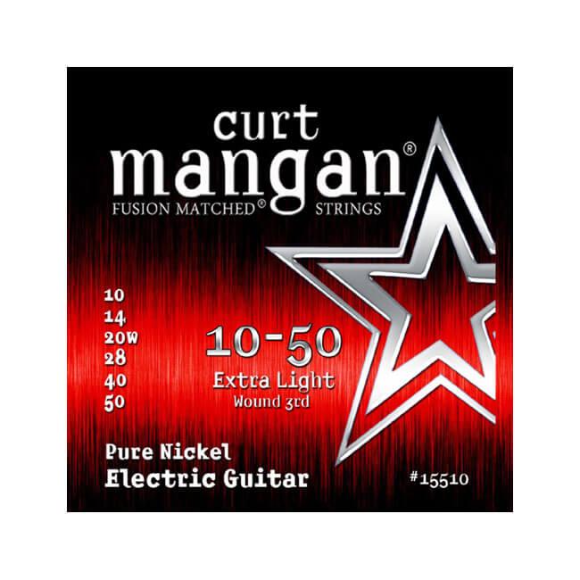 Image of   Curt Mangan 15510PureNickel el-guitarstrenge010-050