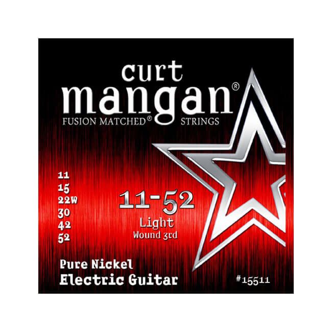 Image of   CurtMangan 15511PureNickel el-guitarstrenge 011-052