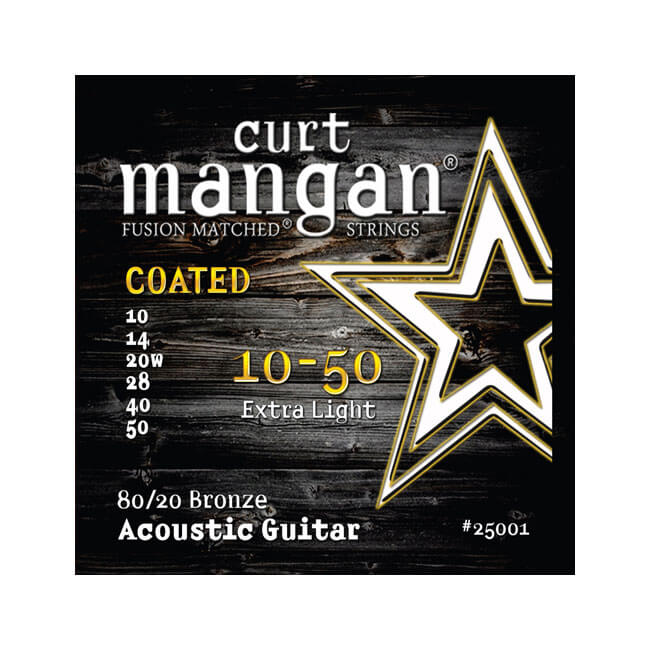 Image of   CurtMangan 25001Coated80/20Bronze western-guitarstrenge010-050