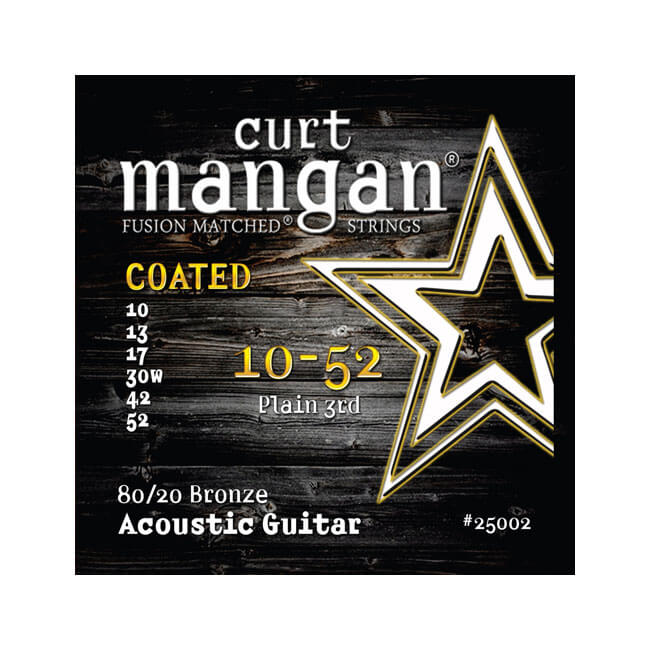 Image of   CurtMangan 25002Coated80/20Bronze western-guitarstrenge010-052