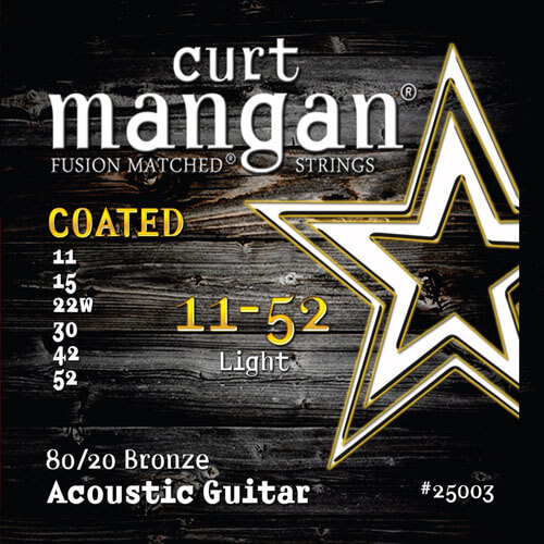 Image of   CurtMangan 25003Coated80/20Bronze western-guitarstrenge011-052