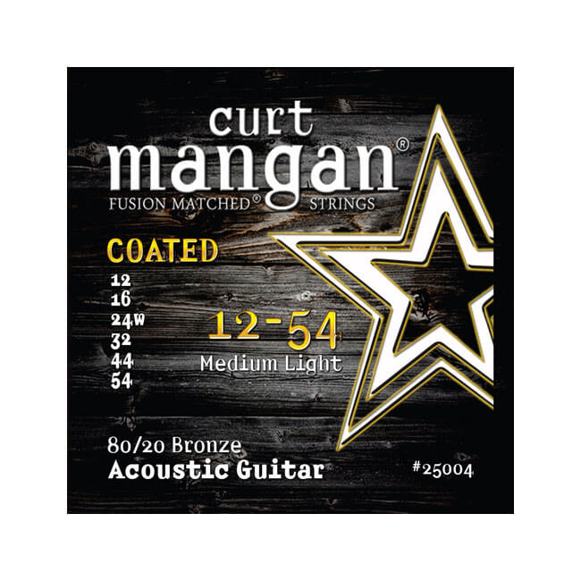 Image of   CurtMangan 25004Coated80/20Bronze western-guitarstrenge012-054
