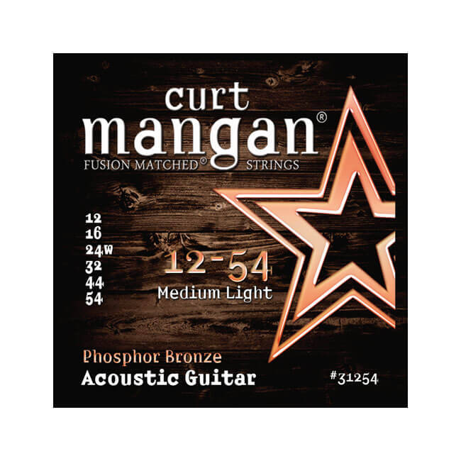 Image of   CurtMangan 31254PhosphorBronze western-guitarstrenge012-054