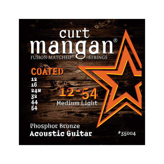 Image of   CurtMangan 35004CoatedPhosphorBronze western-guitarstrenge012-054