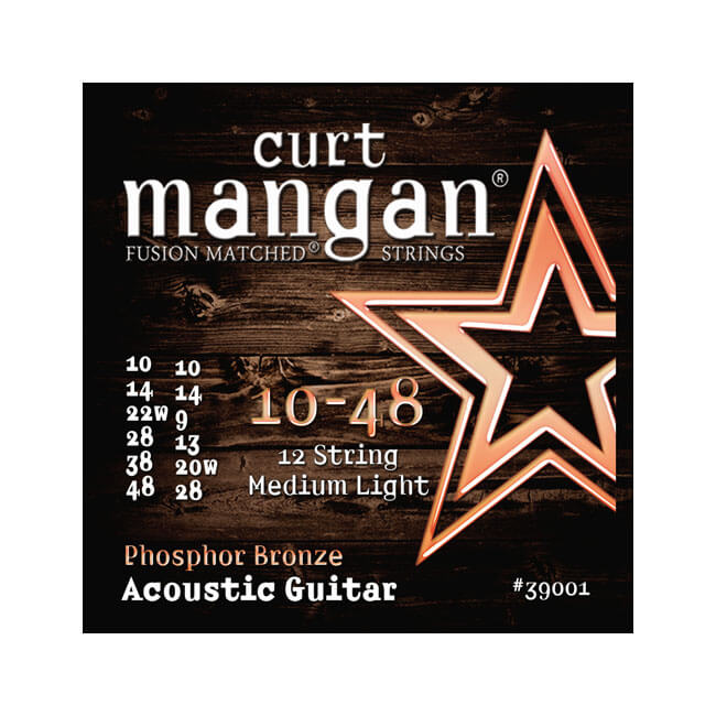 Image of   CurtMangan 39001PhosphorBronze 12-strengetwestern-guitarstrenge010-048