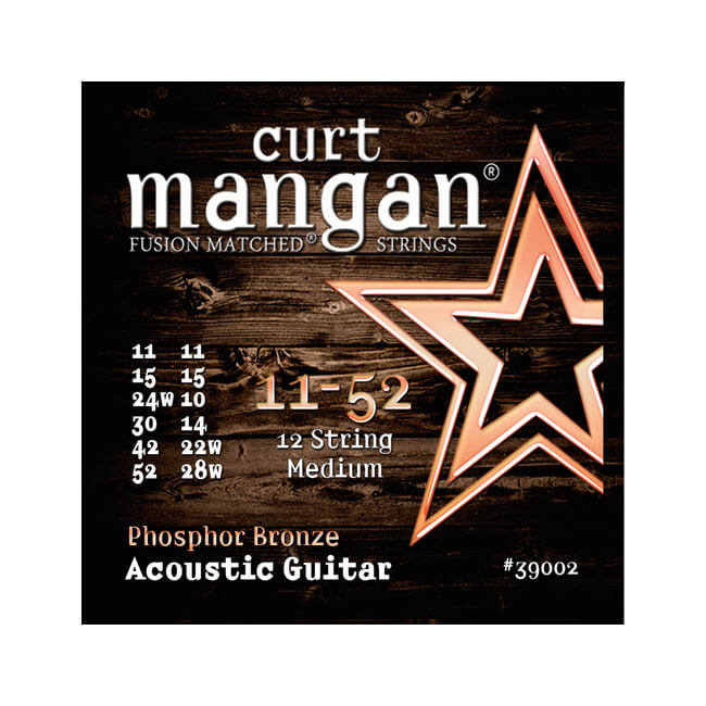 Image of   CurtMangan 39002PhosphorBronze 12-strengetwestern-guitarstrenge011-052