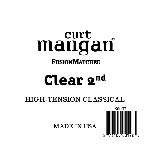 Image of   Curt Mangan 80002 løsnylon2ndspanskguitarstrenghigh-tension