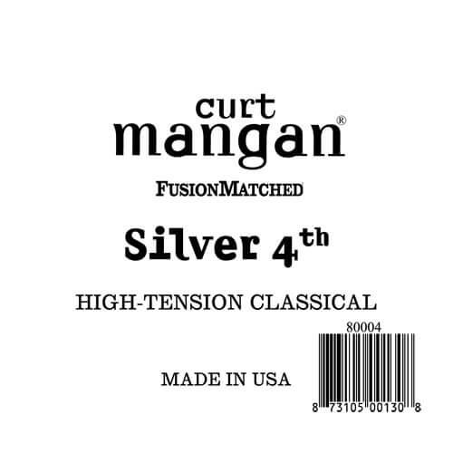 Image of   Curt Mangan 80004 løssilver-wound4thspanskguitarstrenghigh-tens