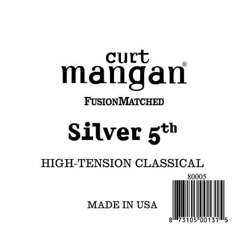 Image of   CurtMangan 80005 løssilver-wound5thspanskguitarstreng,high-ten