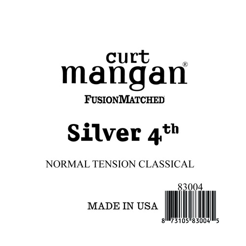 Image of   Curt Mangan 83004 løssilver-wound4thspanskguitarstreng,normal-t