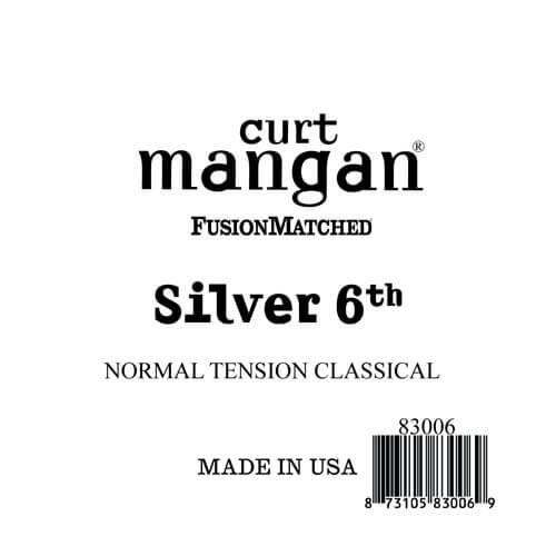 Image of   Curt Mangan 83006 løssilver-wound6thspanskguitarstreng,normal-t