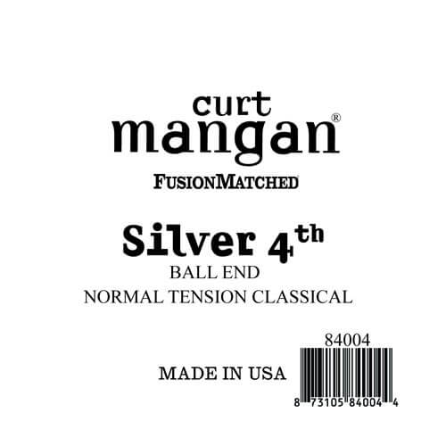 Image of   Curt Mangan 84004 løssilver-wound4thspanskguitarstreng,ball-end