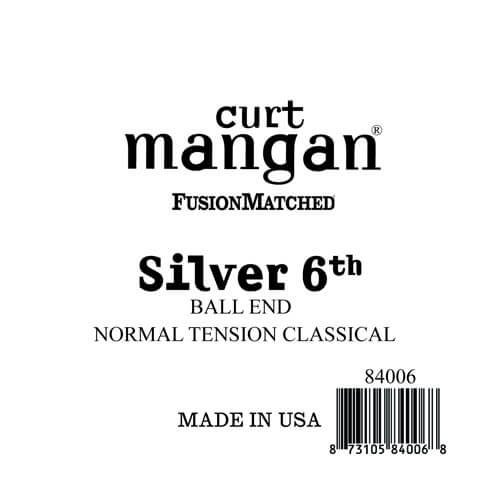 Image of   Curt Mangan 84006 løssilver-wound6thspanskguitarstreng,ball-end