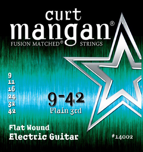 Image of   Curt Mangan 14002 Flatwound el-guitarstrenge 009-042