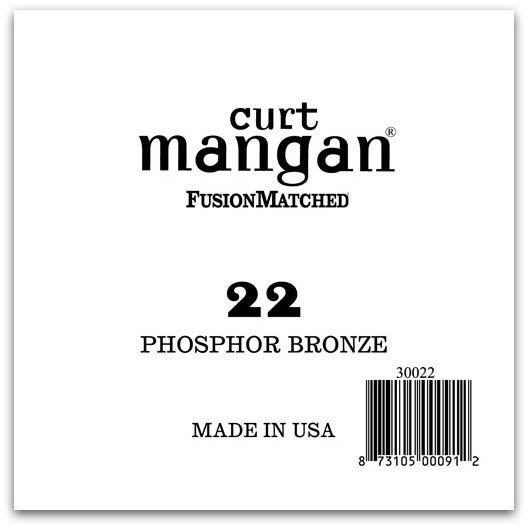 Image of   Curt Mangan 30022 løsphosphorbronzeguitarstreng.022
