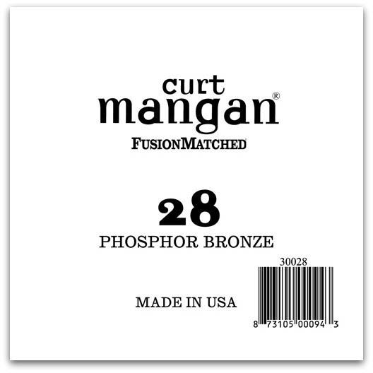 Image of   Curt Mangan 30028 løsphosphorbronzeguitarstreng.028