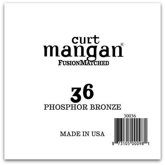 Image of   Curt Mangan 30036 løsphosphorbronzeguitarstreng.036