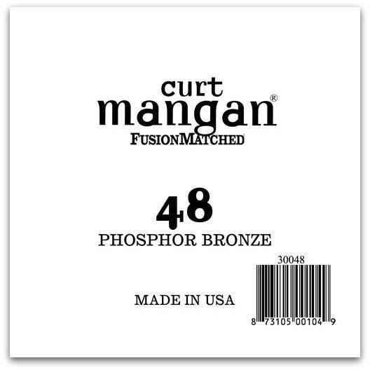 Image of   Curt Mangan 30048 løs phosphor bronze guitarstreng .048