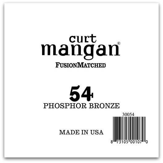 Image of   Curt Mangan 30054 løsphosphorbronzeguitarstreng.054