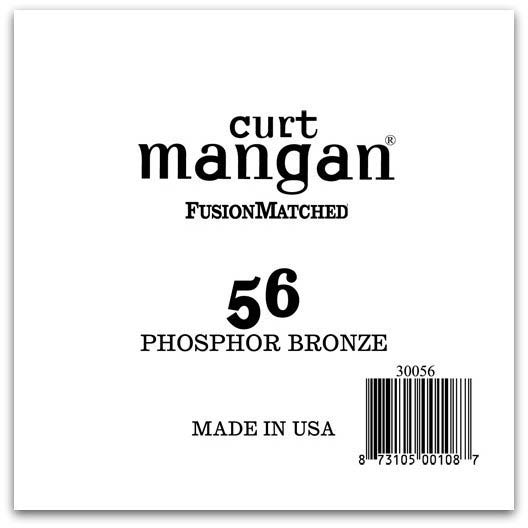 Image of   Curt Mangan 30056 løsphosphorbronzeguitarstreng.056