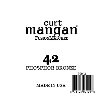 Image of   Curt Mangan 30042 løsphosphorbronzeguitarstreng.042
