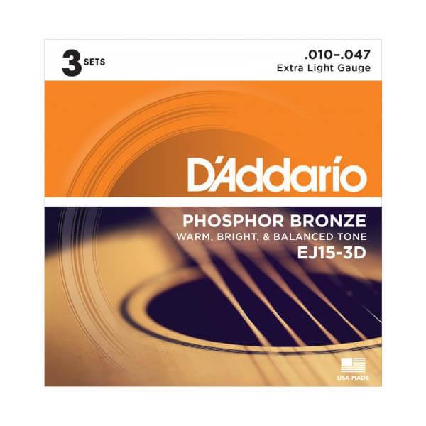 Image of   D'Addario EJ15-3D western-guitar-strenge, 010-047 (3 sæt)