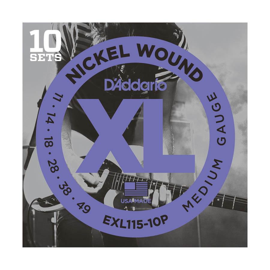 Image of   DAddario EXL115-10P el-guitar-strenge, 011-049 (10 sæt)