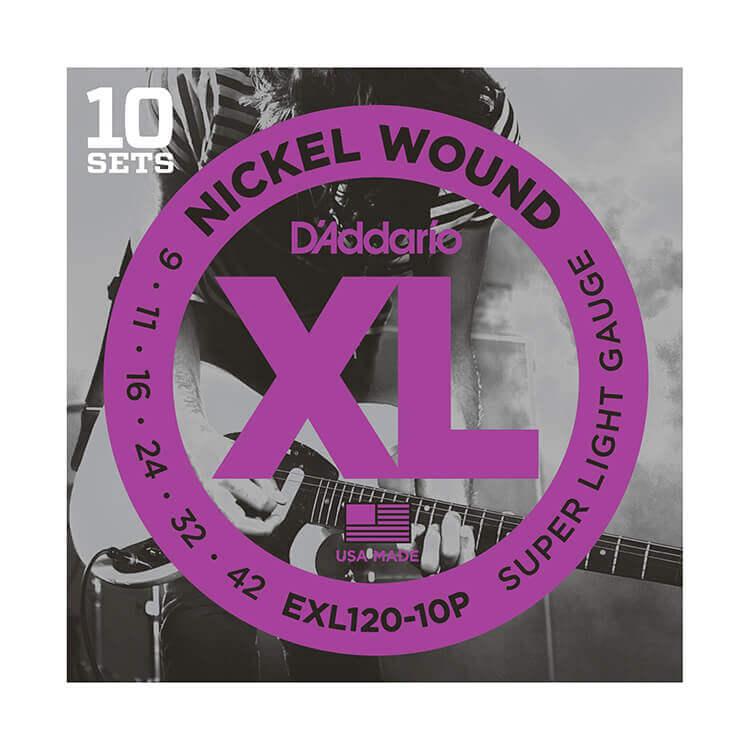 Image of   DAddario EXL120-10P el-guitar-strenge, 009-042 (10 sæt)