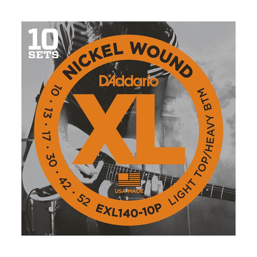 Image of   DAddario EXL140-10P el-guitar-strenge, 010-052 (10 sæt)