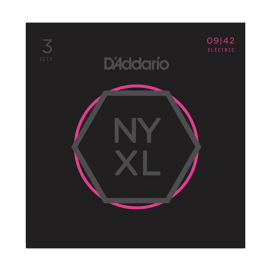 Image of   DAddario NYXL0942-3P el-guitar-strenge, 009-042 (3 sæt)