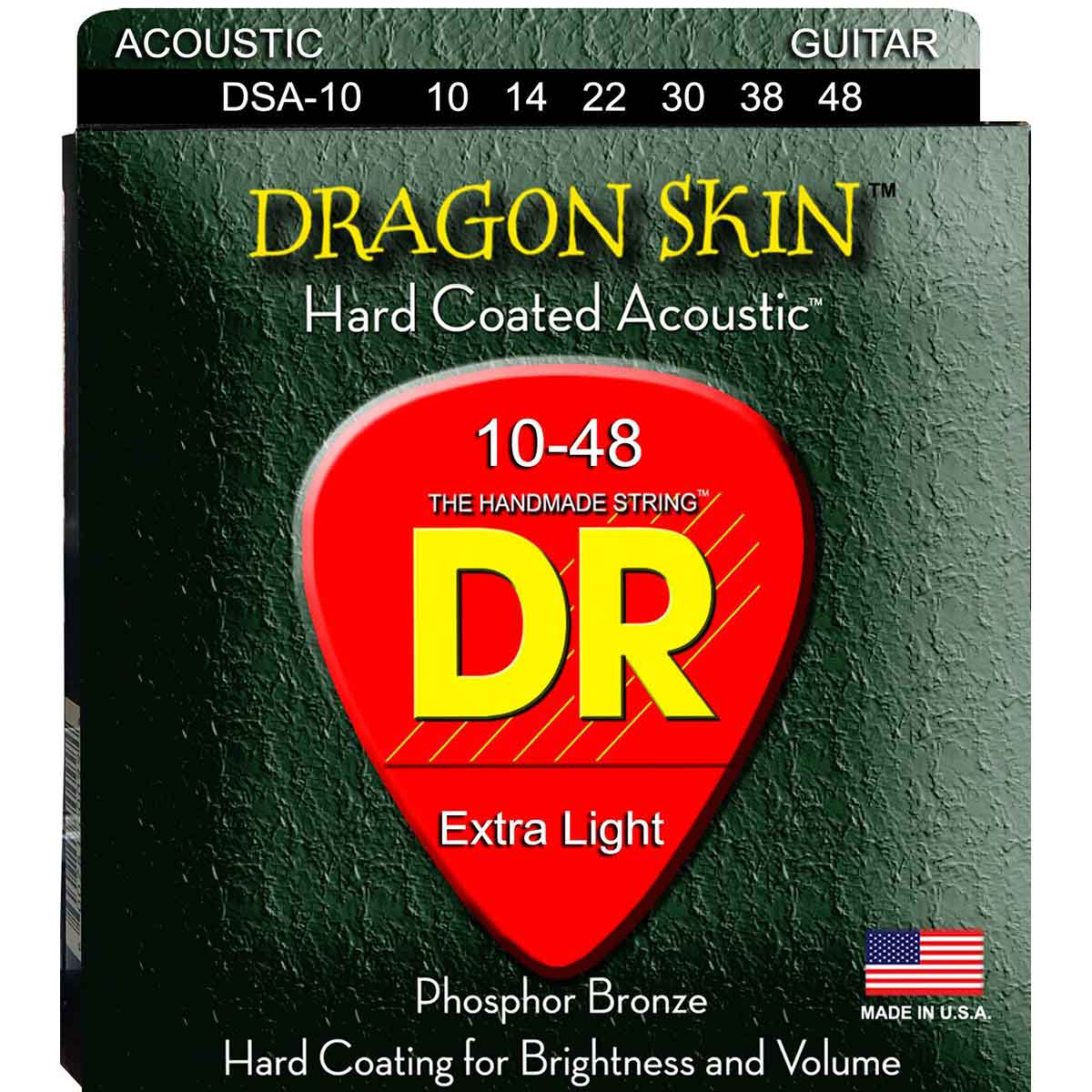 Image of   DR Strings DSA-10 Dragon skin western-guitar-strenge, 010-048