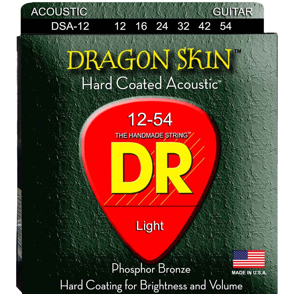 Image of   DR Strings DSA-12 Dragon skin western-guitar-strenge, 012-054