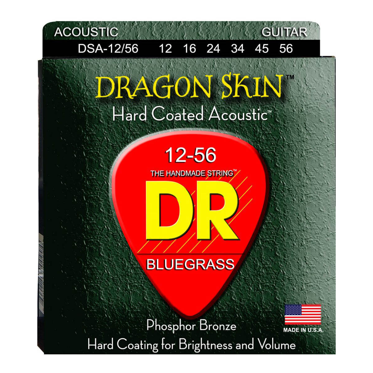 Image of   DR Strings DSA-12/56 Dragon skin western-guitar-strenge, 012-056