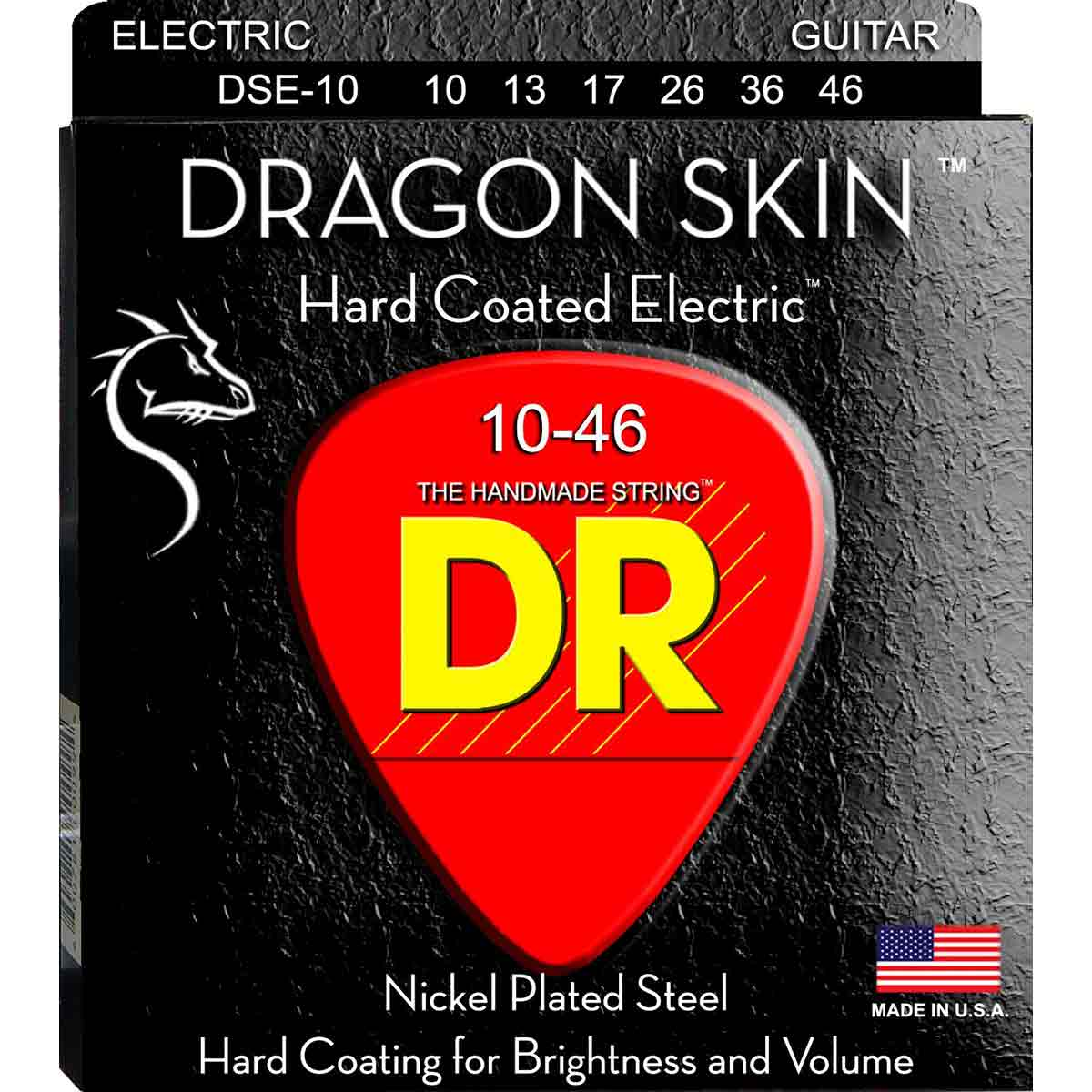 Image of   DR Strings DSE-10 Dragon skin el-guitar-strenge, 010-046
