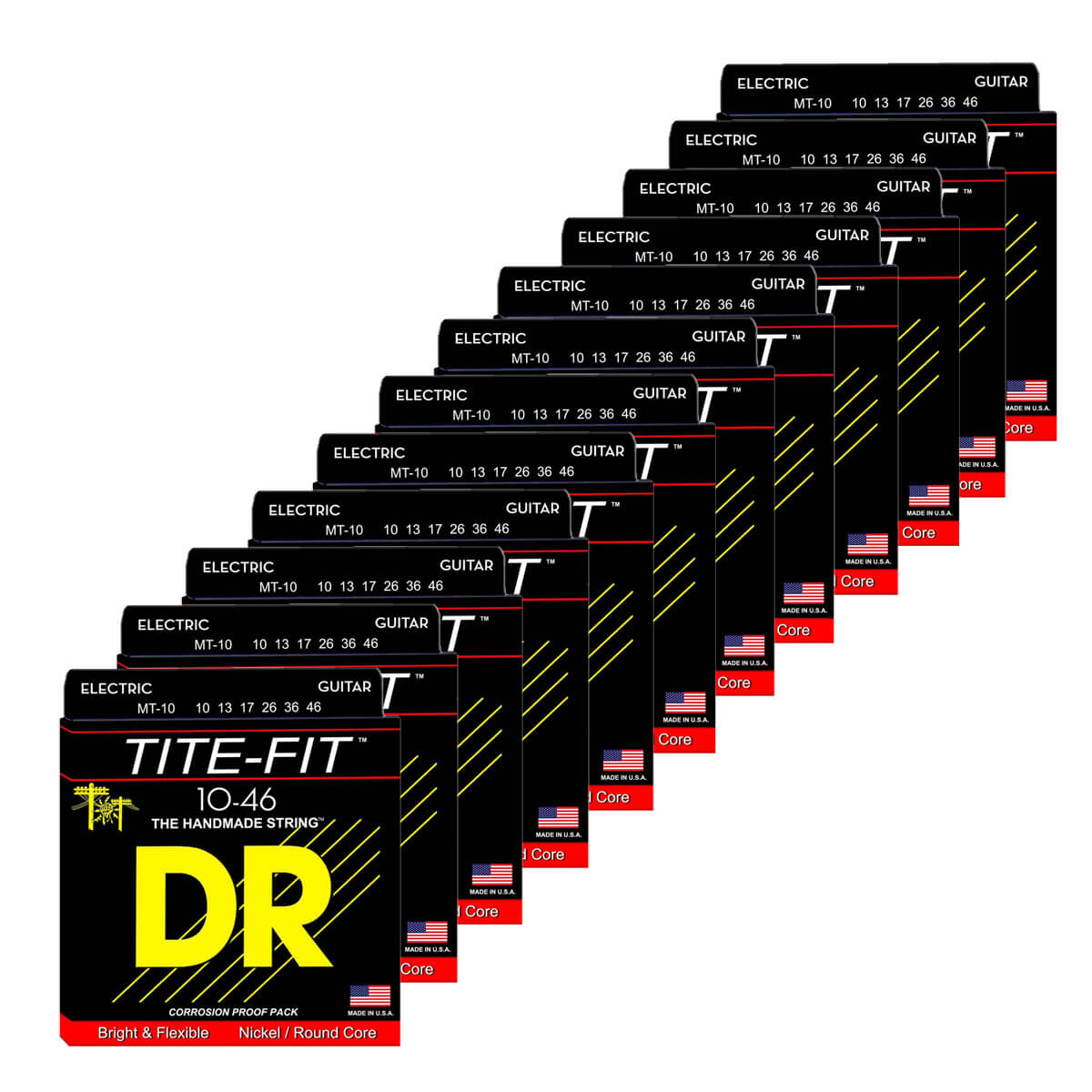 Image of   DR Strings MT-10 Tite-fit el-guitar-strenge, 010-046, 12-pack