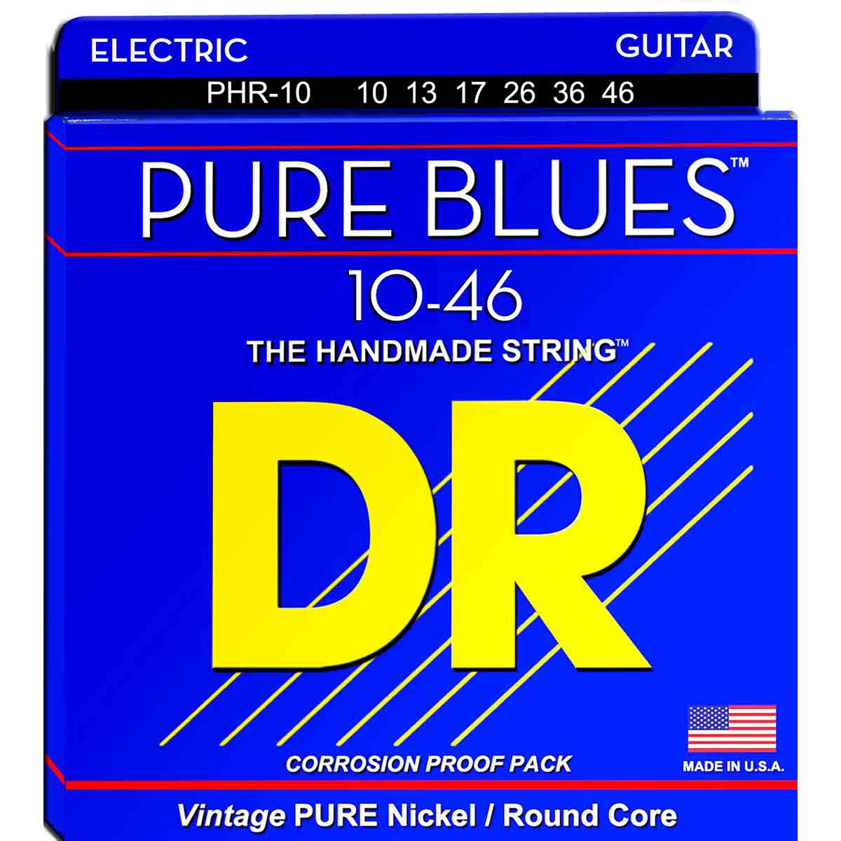 Image of   DR Strings PHR-10 Pure blues el-guitar-strenge, 010-046