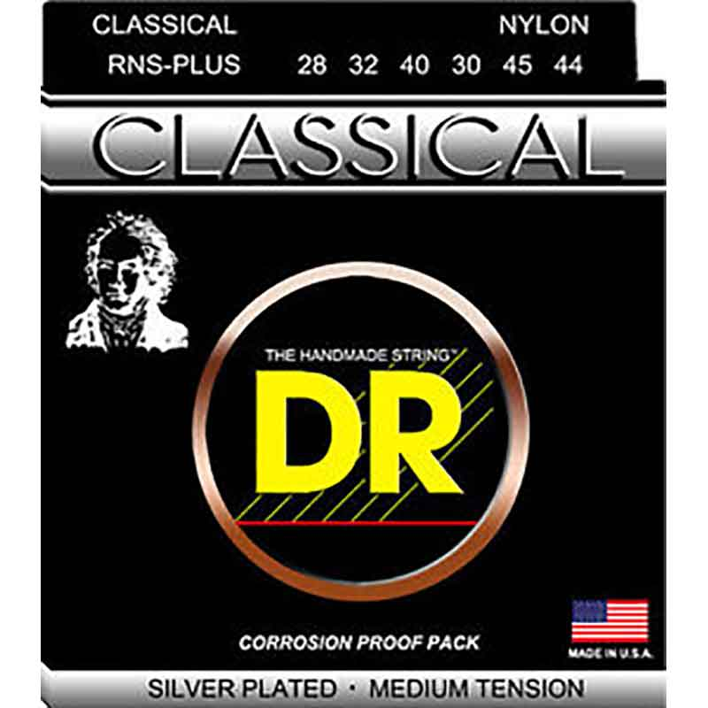 Image of   DR Strings RNS-Plus spansk guitar-strenge, medium tension