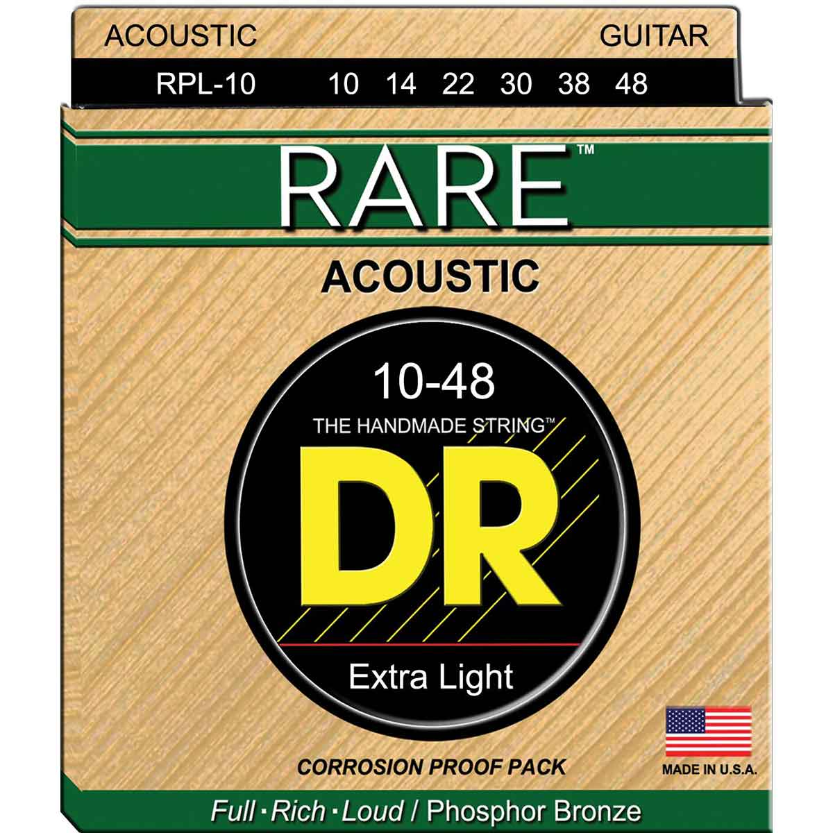 Image of   DR Strings RPL-10 Rare western-guitar-strenge, 010-048