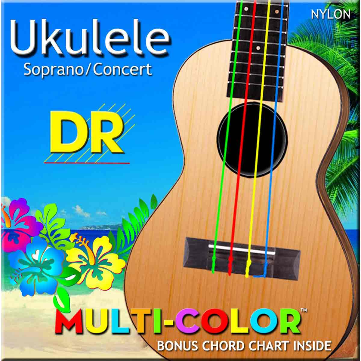 Billede af DR Strings UMCSC Mulitcolor sopran/concert ukulele-strenge