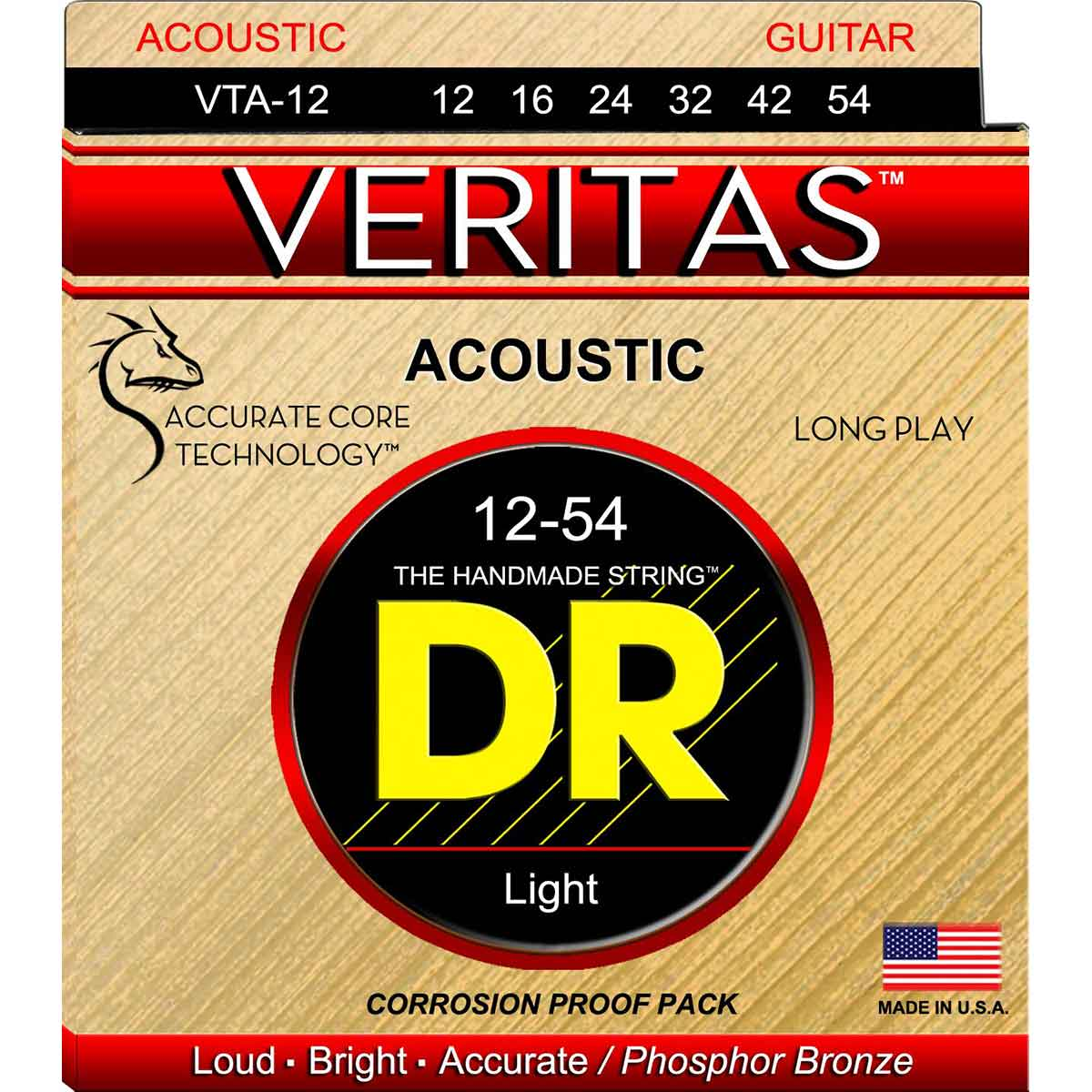 Image of   DR Strings VTA-12 Veritas western-guitar-strenge, 012-054
