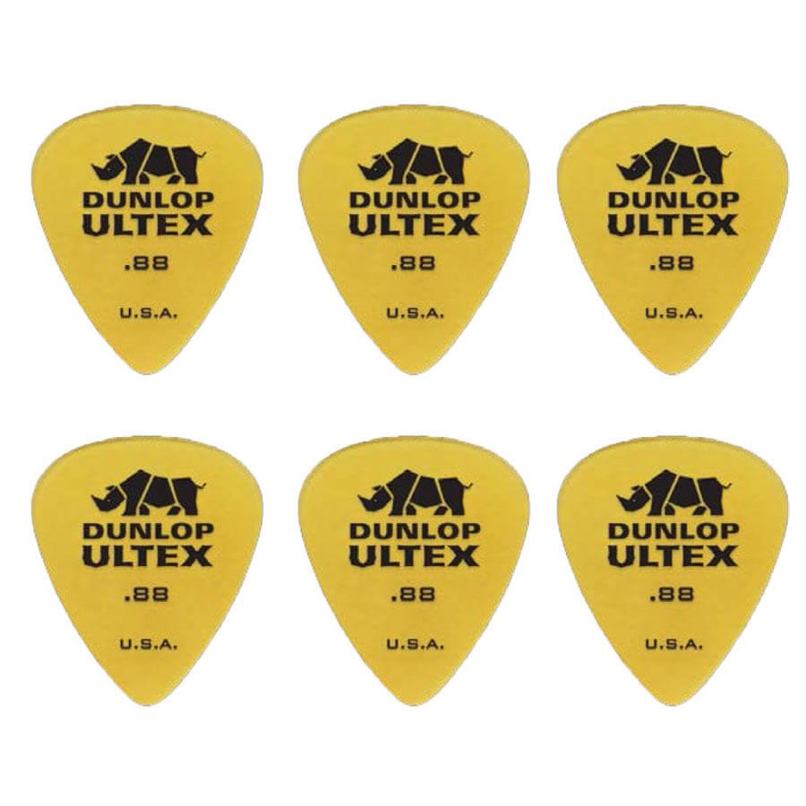 Image of   Dunlop Ultex Standard 0,88 mm plektre (6 stk.)