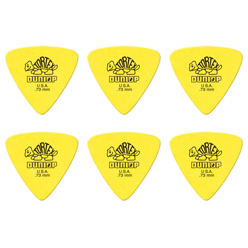 Image of   Dunlop Tortex Triangle 0,73 mm plektre (6 stk.)