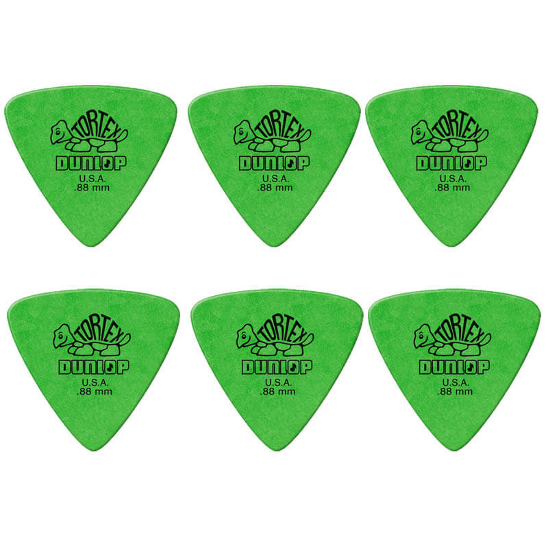 Image of   Dunlop Tortex Triangle 0,88 mm plektre (6 stk.)