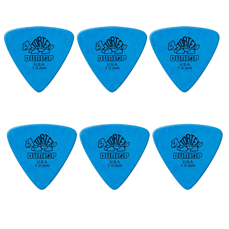 Image of   Dunlop Tortex Triangle 1,0 mm plektre (6 stk.)