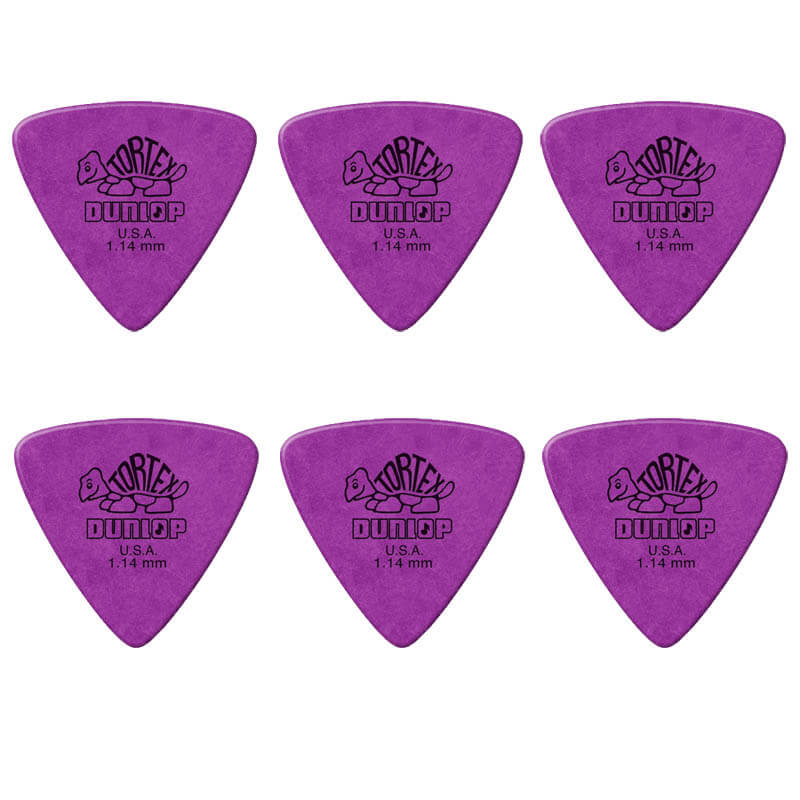Image of   Dunlop Tortex Triangle 1,14 mm plektre (6 stk.)