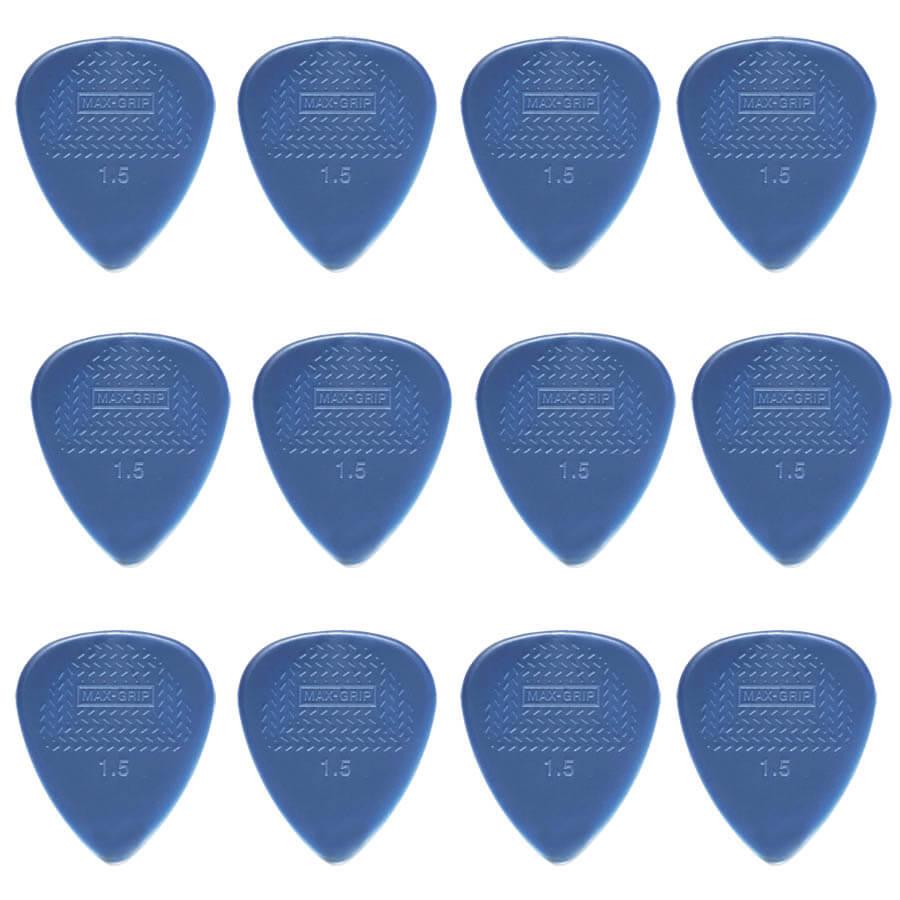 Image of   Dunlop Nylon Max Grip Standard 1,5 mm plektre (12 stk.)