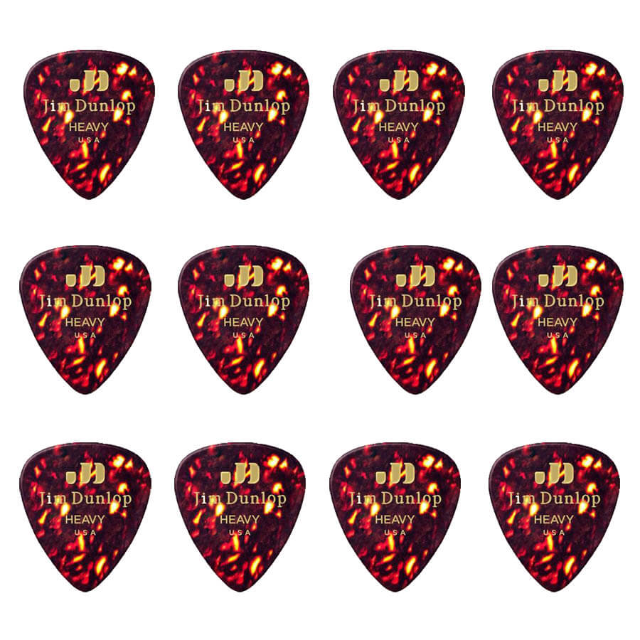 Image of   Dunlop Shell Classics Heavy plektre (12 stk.)